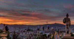 Montjuïc sunset