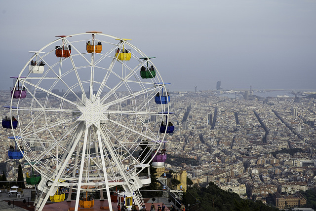 Tibidabo park; Barcelona-Home - kids attraction