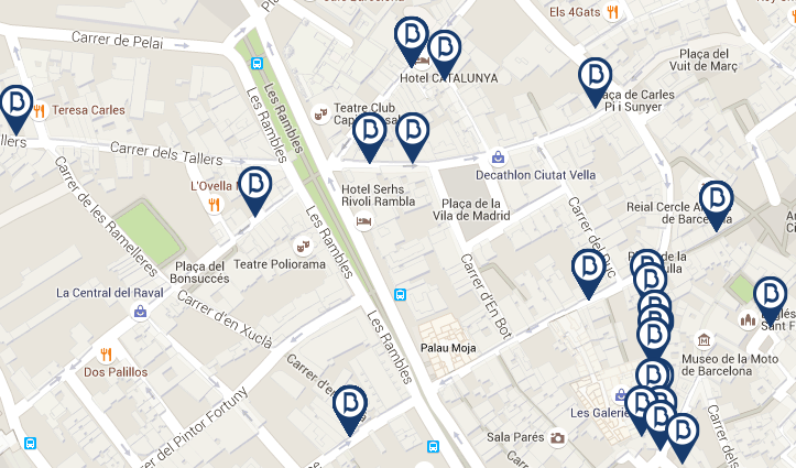 map ramblas