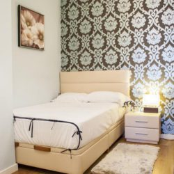 Single Bedroom with Gorgeous Wallpaper