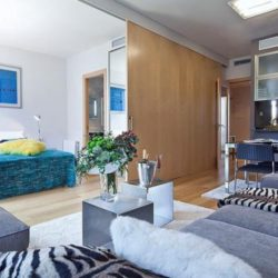 Living Room with Double Bedroom