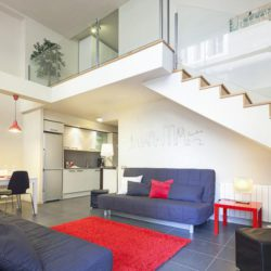 Designer living room.
