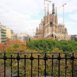 View of Sagrada Familia from Balcony