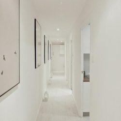 All white hallway