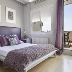 Luxurious bedroom with terrace access