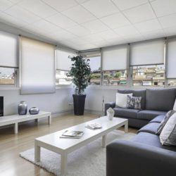 Spacious living room with windows on all sides