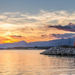 Sunset over Cambrils Beach
