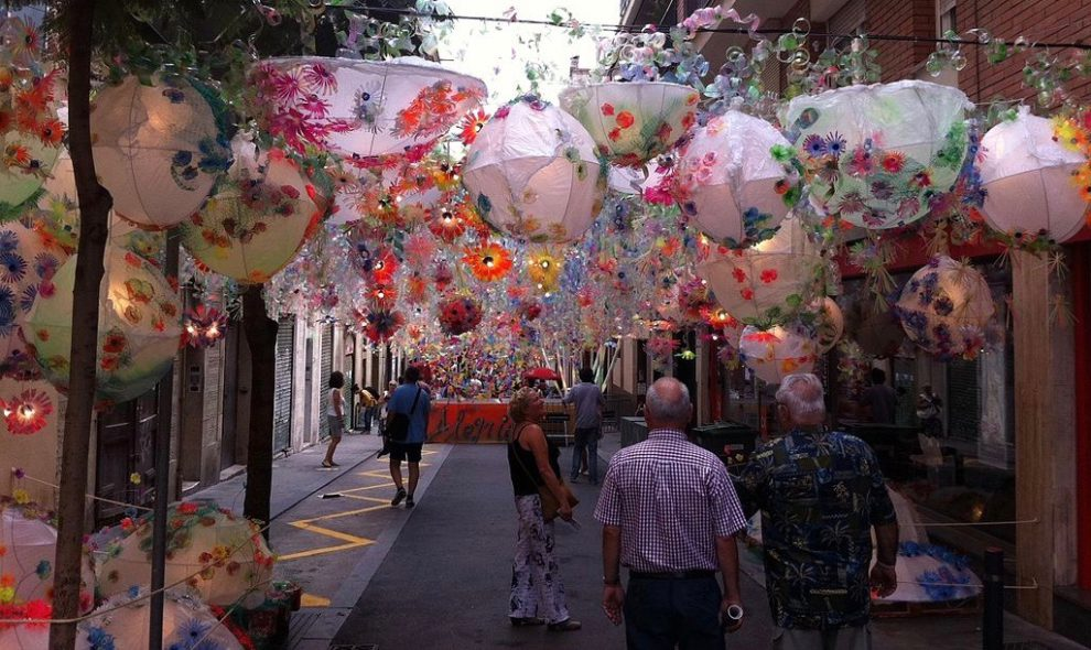 Decorated streets of Gràcia
