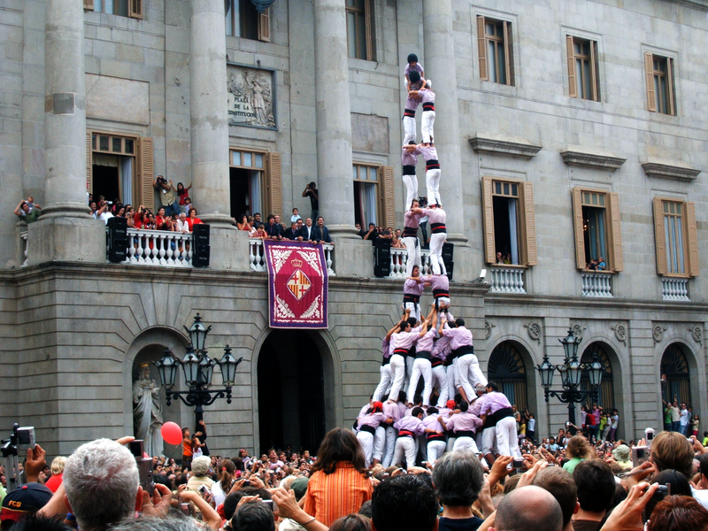 Human tower La Merce Barcelona