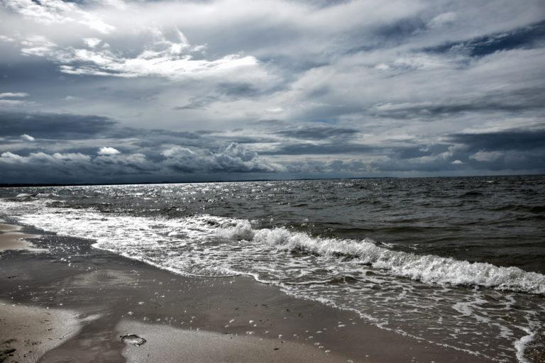 Expressive and dramatic sea coast