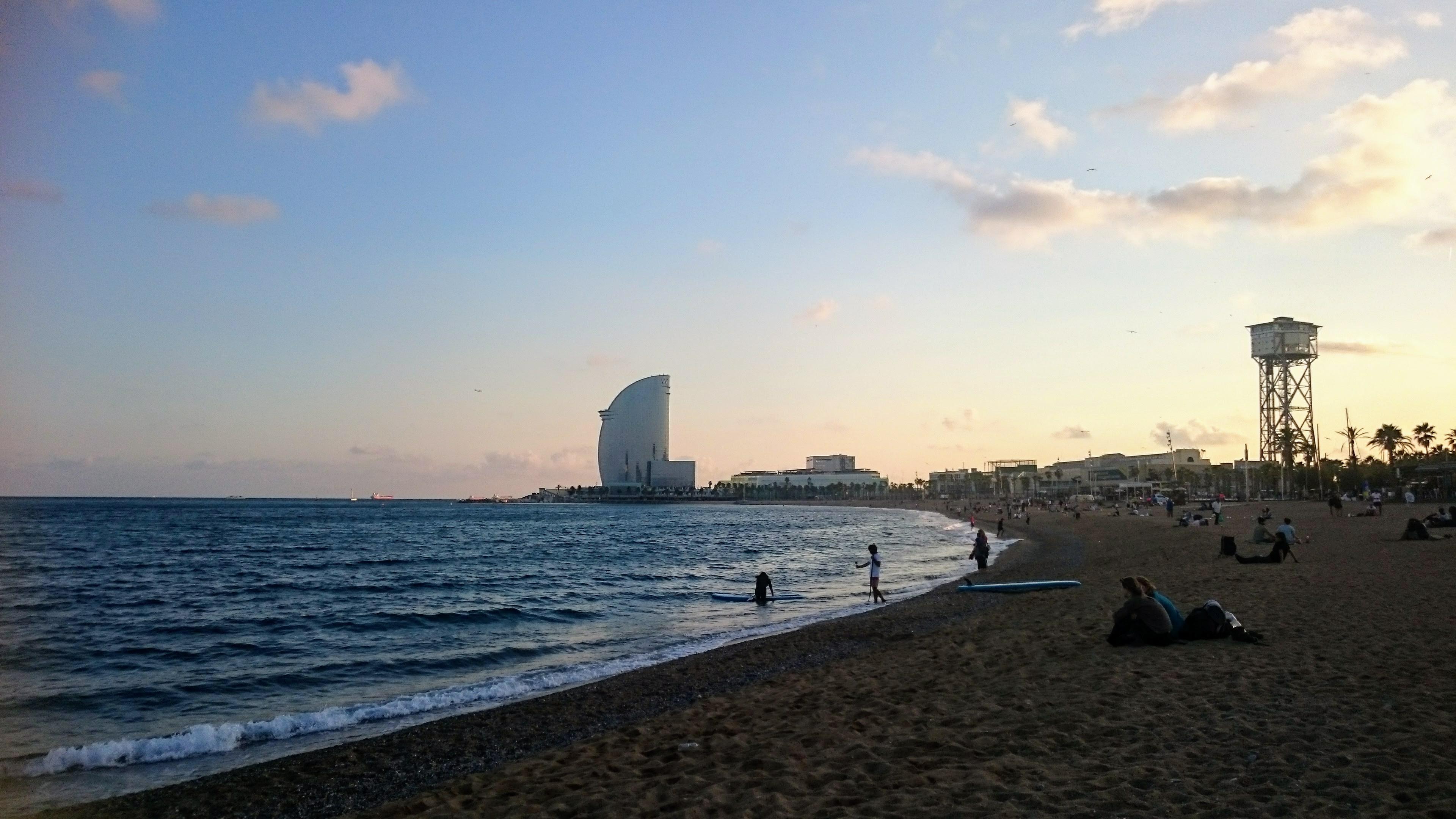 beach yoga Barcelona