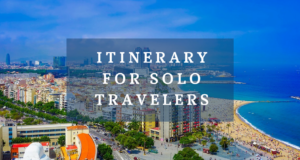Itinerary for solo travelers
