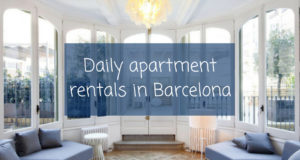 Daily apartments rentals in Barcelona