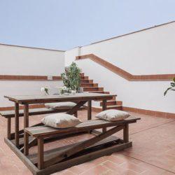 Breezy private terrace