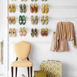 crown molding as a shoe rack