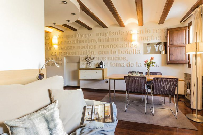 salon with written walls