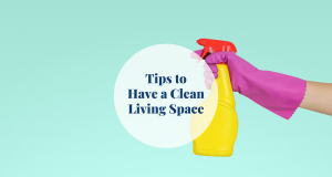 tips clean living space