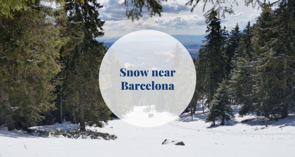 snow near Barcelona