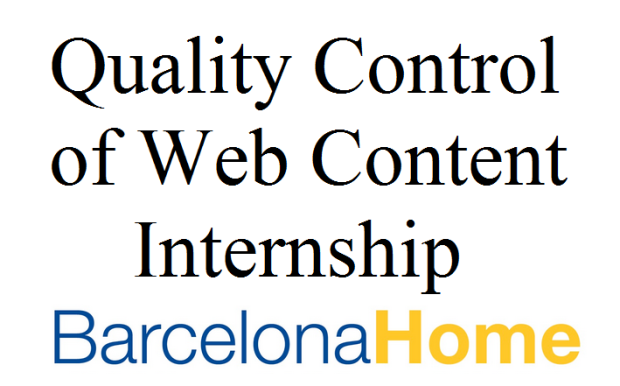 quality control of web content internship