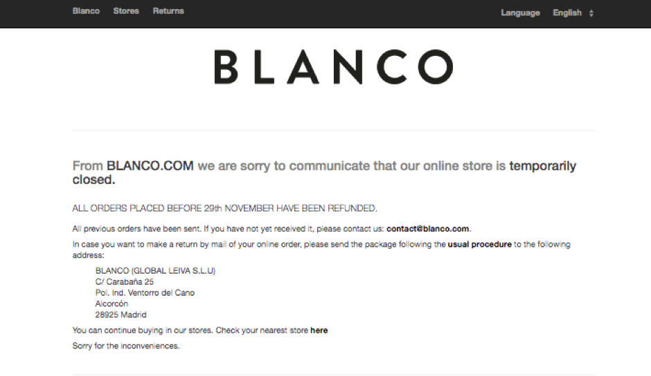 blanco's website