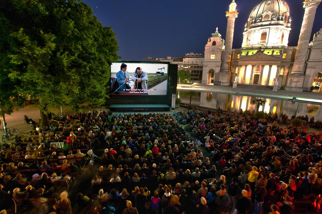 Outdoor Cinema in Montjuïc