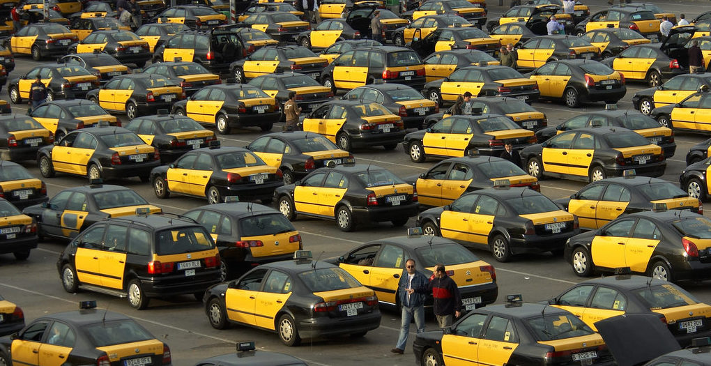 shared taxis share a taxi Barcelona
