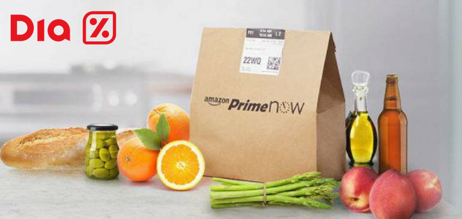 Food delivery Dia & Amazon Amazon Prime Now