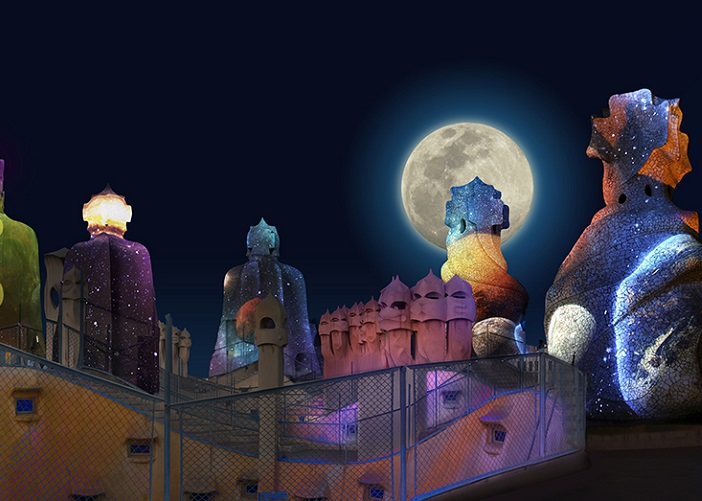 Gaudi S Pedrera The Origins Night Show Casa Mila