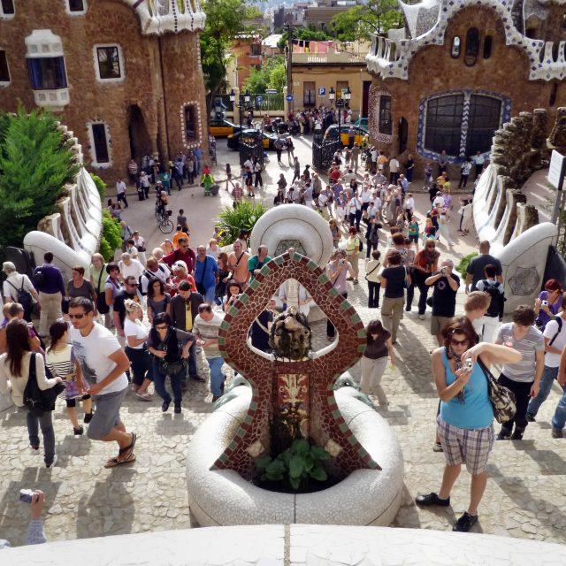 Tourists Leading Barcelona