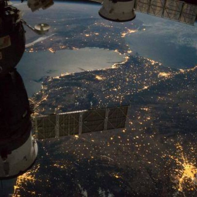 The International Space Station spotted in the skies of Barcelona